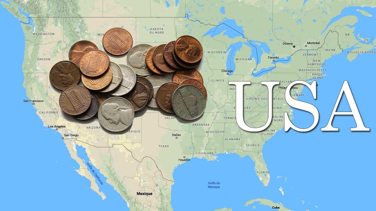 Quelques pièces américaines de très faible valeur