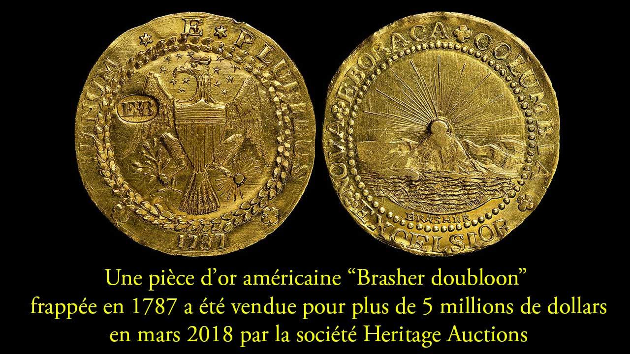 Exemple de pièces d'or rarissime vendue pour 5 millions de dollars : un
