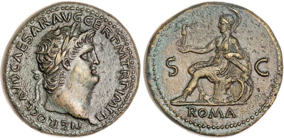 Exemple de sesterce de l'Empereur Néron