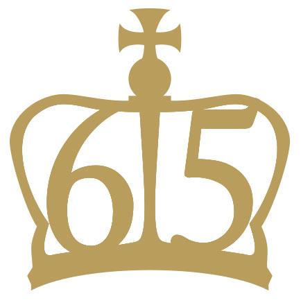 Image de la marque spéciale gravée sur les souverains d'or commémorant les 65 ans de règne d'Elizabeth II