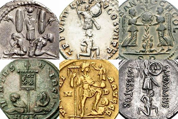 Quelques exemples de représentations de captifs sur des momnnaies romaines