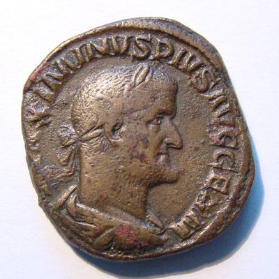 Portrait de Maximien sur une monnaie en vente