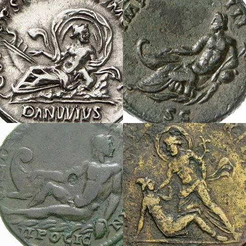 Représentations du Danube sur les monnaies romaines