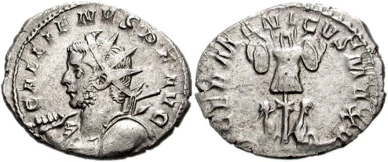 Antoninien de Gallien, frappé à Cologne en 257-258