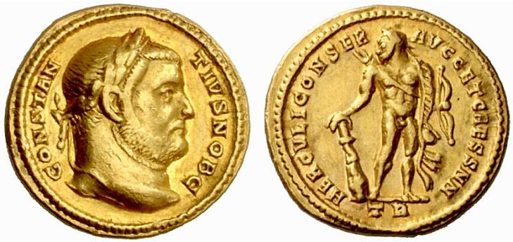 Hercule sur une monnaie romaine : photo n°1