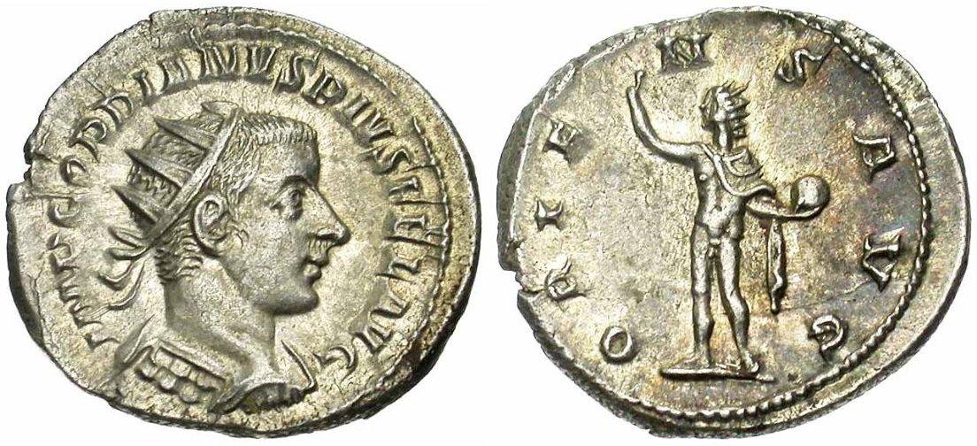 Monnaie de l'empereur Gordien III Auguste