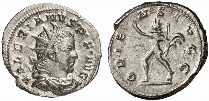 Monnaie de Valérien (empereur de 253 à 260 après JC). Antoninien