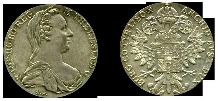 Exemple de Thaler de Marie-Thérèse