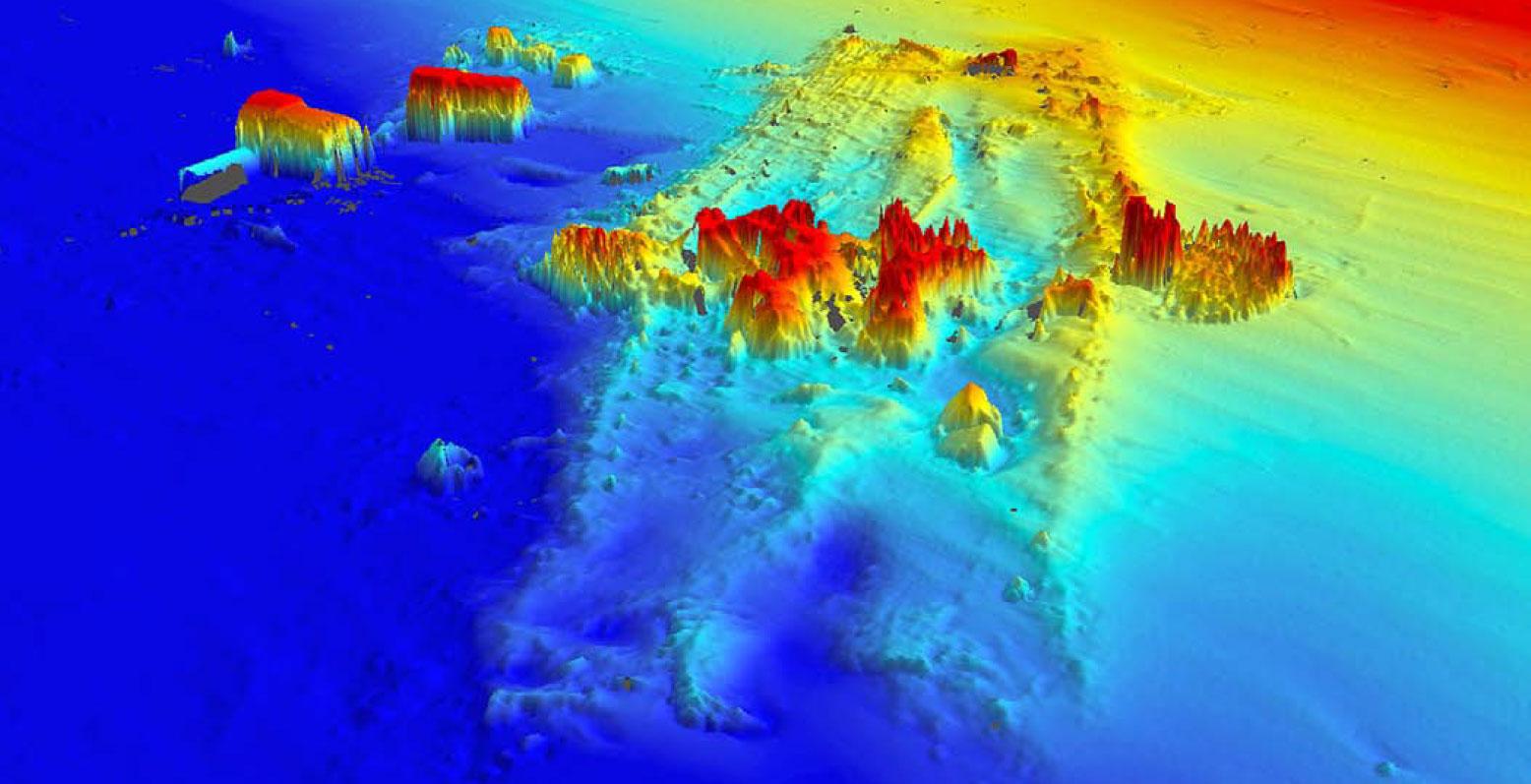 Cartographie 3D de l'épave du SS Central America