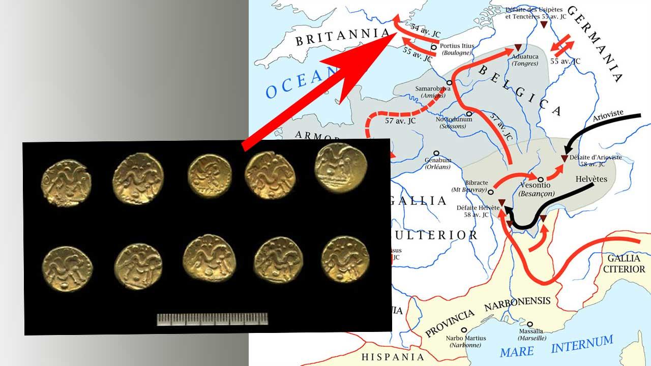 Les pièces ont été enterrées pendant la Guerre des Gaules