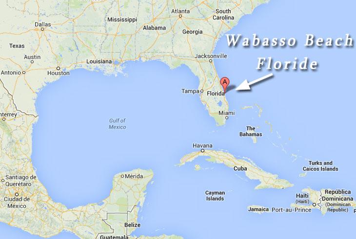 Carte du trésor découvert en Floride