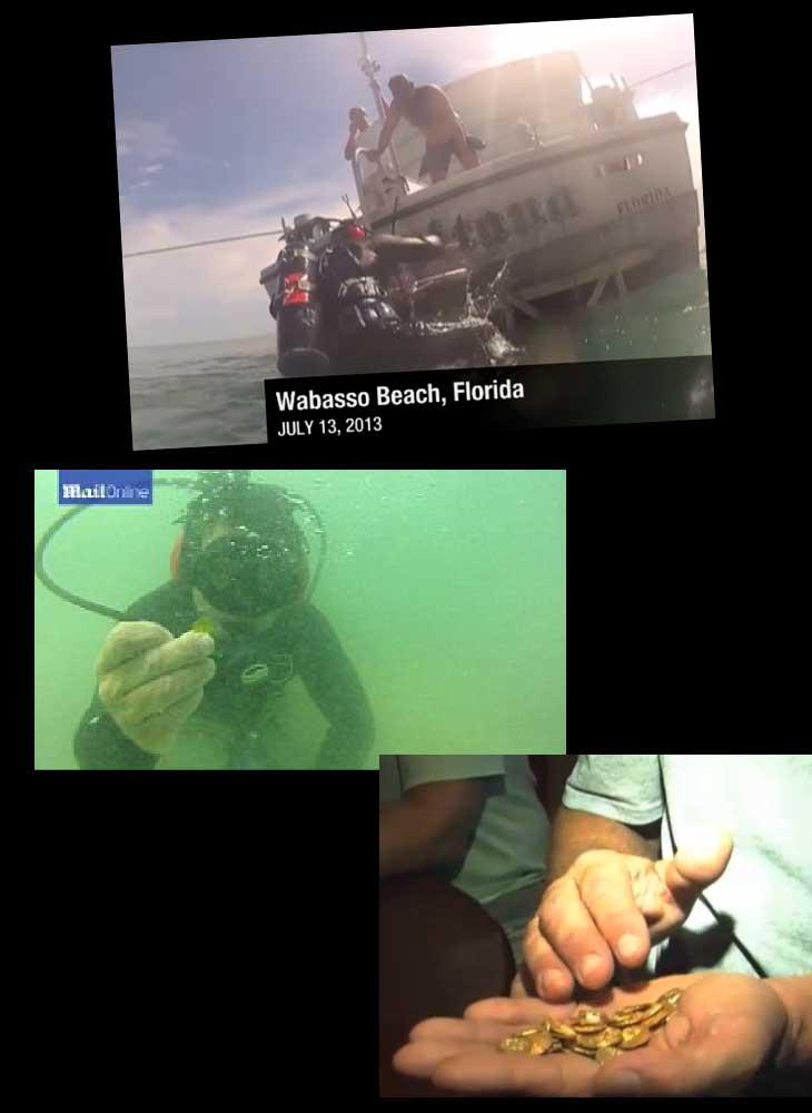 Quelques photos de la découverte du trésor de Floride