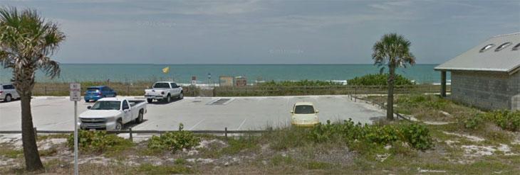 Plage vers Wabasso Beach où le trésor a été découvert