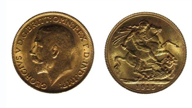Souverain d'or de George V daté de 1915