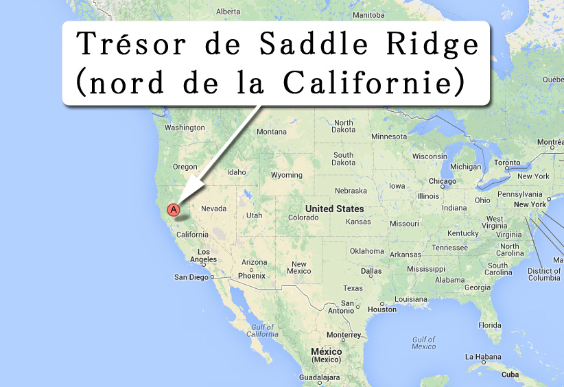 Carte de localisation de Saddle Ridge