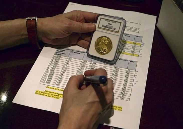 Inventaire des monnaies du trésor.