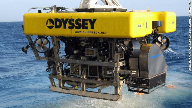 Sous marin de la société Odyssey utilisé pour la récupération du trésor