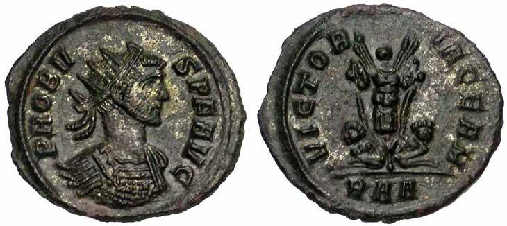 Antoninien de Probus revers captifs et trophée