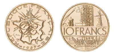 pièce de monnaie de 10 francs mathieu