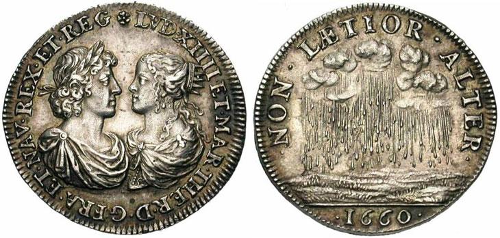 Photo de la médaille de Warin sur le mariage de Louis XIV avec Marie Thérèse
