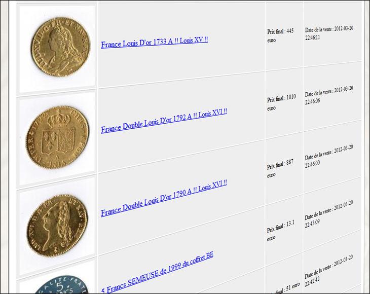 Cotation de monnaies