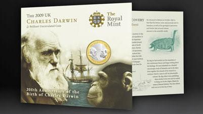 Coffret spécial pour la pièce commémrative de Darwin