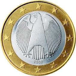 Image du revers d'une pièce allemande en euro