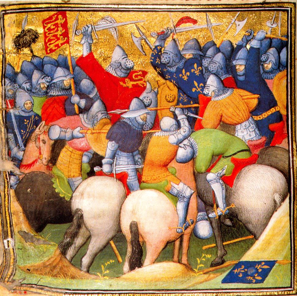 5. Lors de la bataille de Crécy, en 1346, les chevaliers français, fougueux et chevaleresques, sont battus à plate couture par des Anglais peu glorieux mais réalistes.
