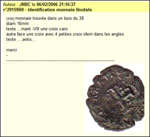 Identification pièce de monnaie