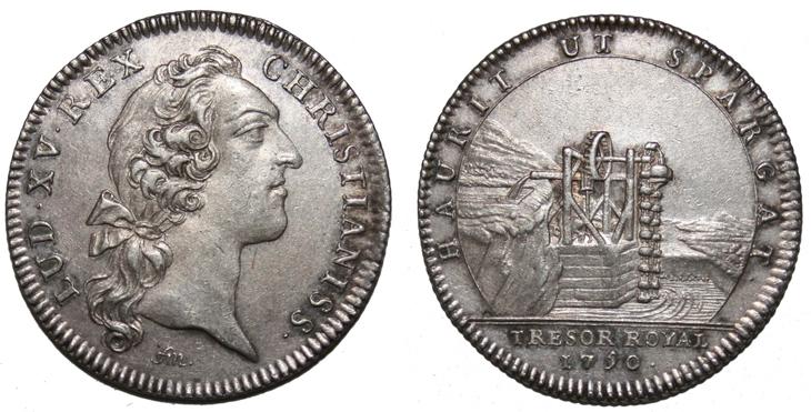 Jeton d'argent de Louis XV