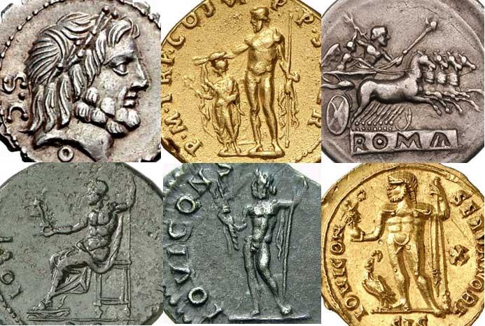 Images de Jupiter sur les monnaies romaines
