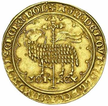 Exemple de monnaie d'or du Moyen Age : le Mouton d'or