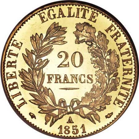 Les Napoléons sont les pièces françaises émises entre le règne de l'Empereur Napoléon et 1914
