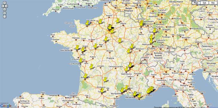 Acheter des monnaies en France : carte des numismates professionnels français