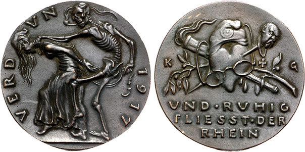 Exemple de médaille allemande de la première guerre mondiale