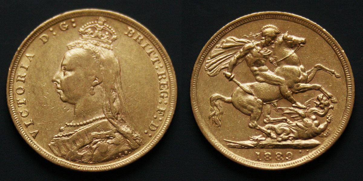 Souverain d'or de Victoria : le portrait du Jubilée d'or