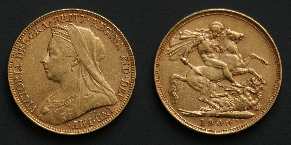 Souverain d'or de Victoria : le portrait à la vieille tête