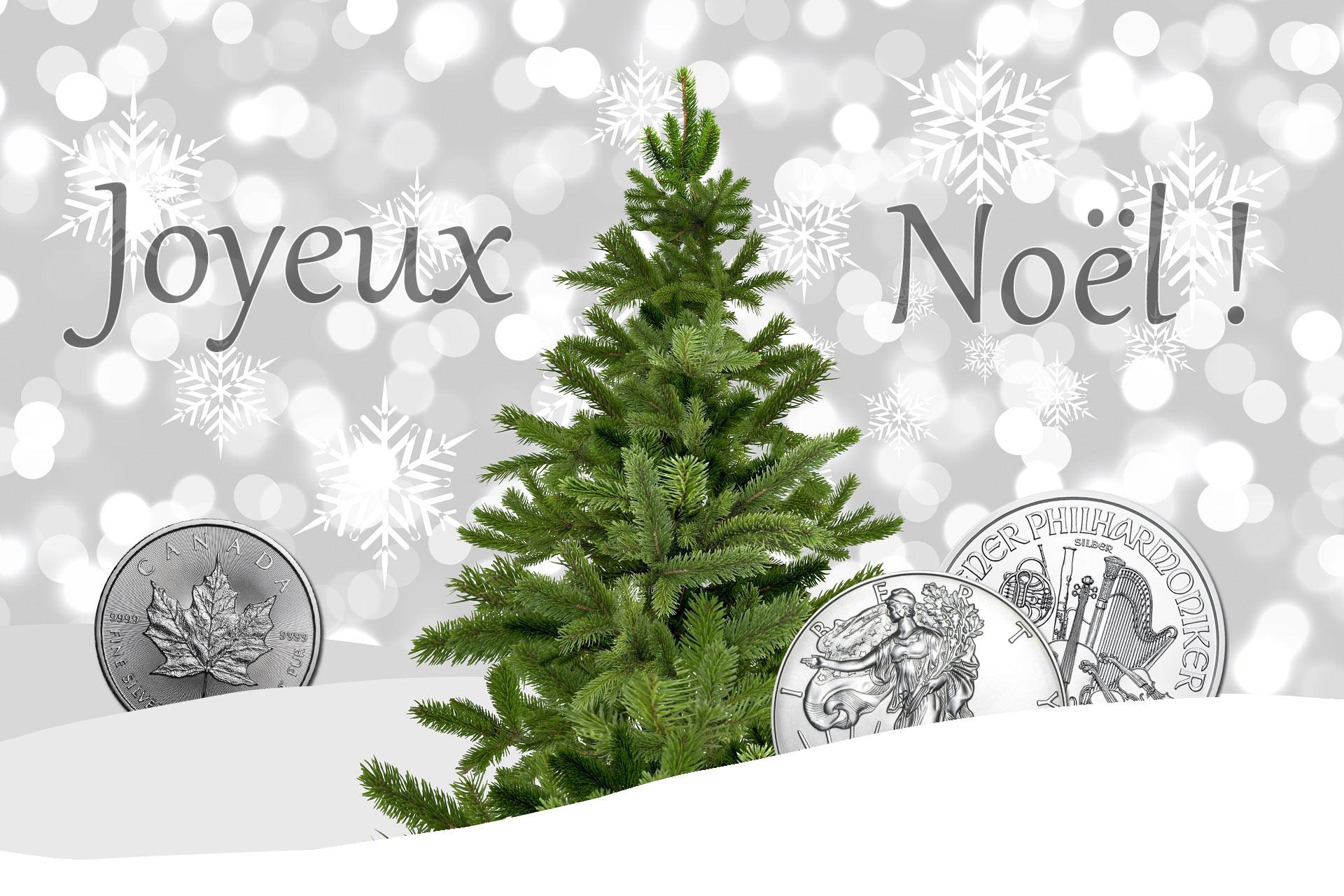 Joyeux Noel Sacra-moneta, numismatique et monnaies de collection. Quelques pièces d'argent en illustration