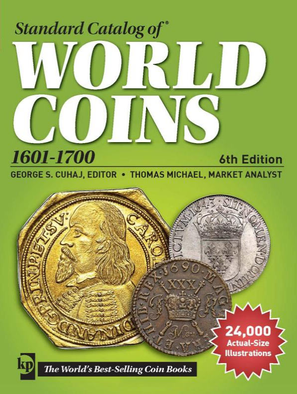 Photo de la couverture du Standard Catalog of World Coins, 1601-1700