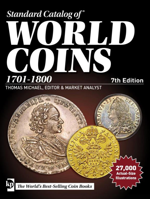 Photo de la couverture du Standard Catalog of World Coins 1701-1800