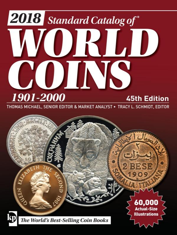 Photo de la couverture du Standard Catalog of World Coins, 1901-2000