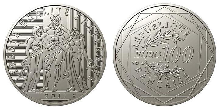 Pièce de 100 euro argent Hercule