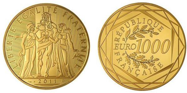 Pièce de 1000 euro or