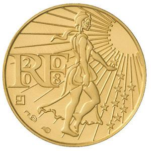 pièce de 100 euros or de la Monnaie de Paris (avers)