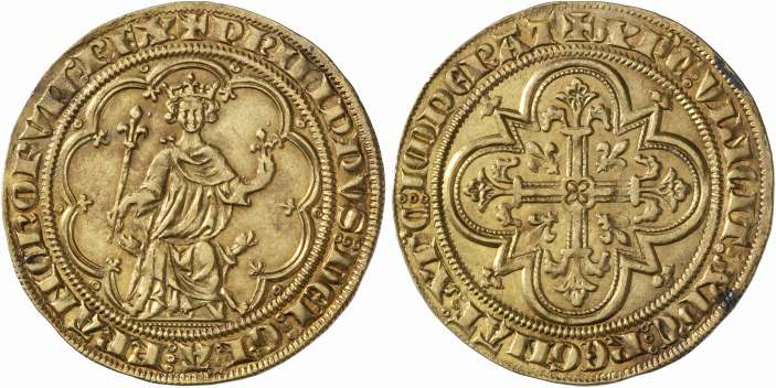 Monnaie du jour : Masse d'or de Philippe Le Bel