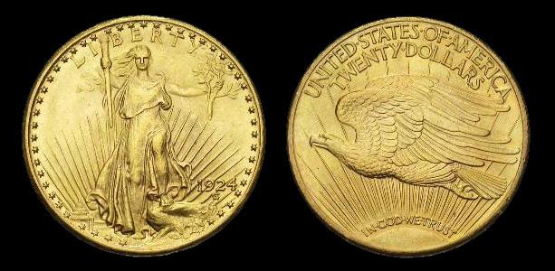Pièce américaine de 20 dollars or