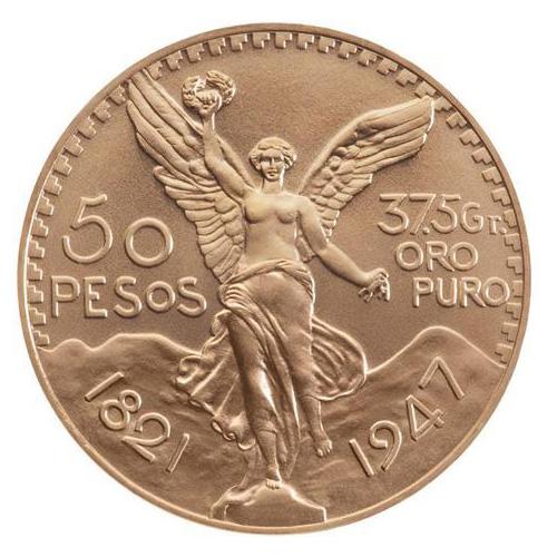 50 pesos or Mexique  50-pesos-or-avers