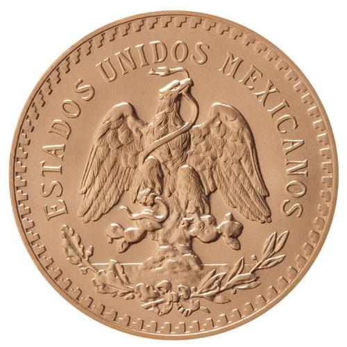 50 pesos or Mexique : avers