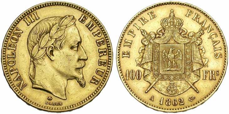 Pièce de 100 francs or, la plus grosse pièce d'or française