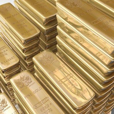 Barres d'or fin